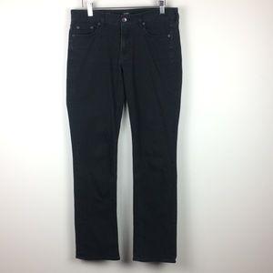 J Crew Matchstick Black Jeans Straight Stretch 29R